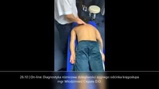 Obejrzyj 26.10 | On-line: Diagnostyka różnicowa dolegliwości szyjnego odcinka kręgosłupa mgr Włodzimierz Ciepała D.O