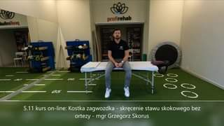 Obejrzyj 5.11 kurs on-line: Kostka zagwozdka - skręcenie stawu skokowego bez ortezy